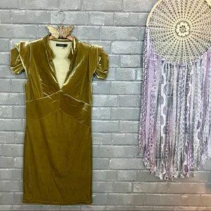 theme // honeysuckle yellow velvet minidress s